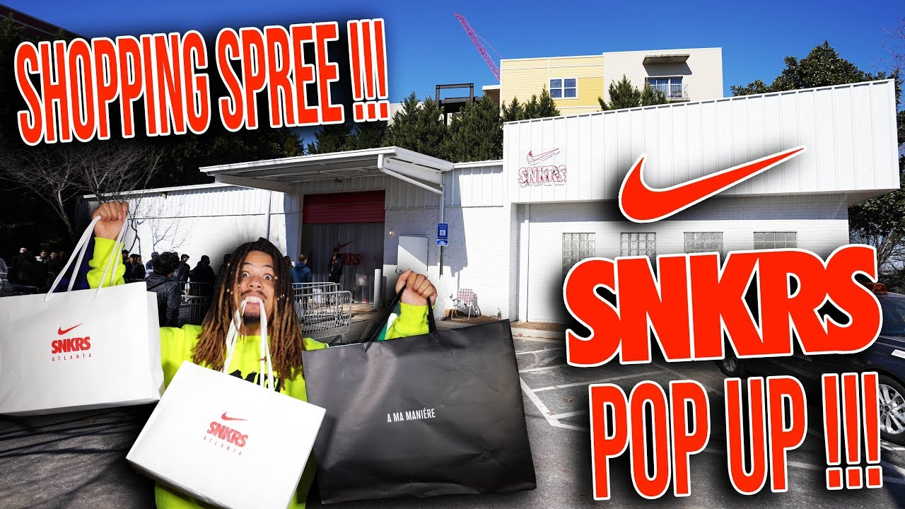 I CAN'T BELIEVE THEY HAD ALL THESE FOR RETAIL !!! SNKRS POP UP IN ATLANTA  SNEAKER VLOG !