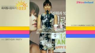 [Engsub by JiWonderland] Ha Ji Won birthday party - fan meeting 06.24.2012