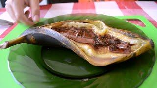 Запеченный банан с шоколадом от Дим-Димыча.