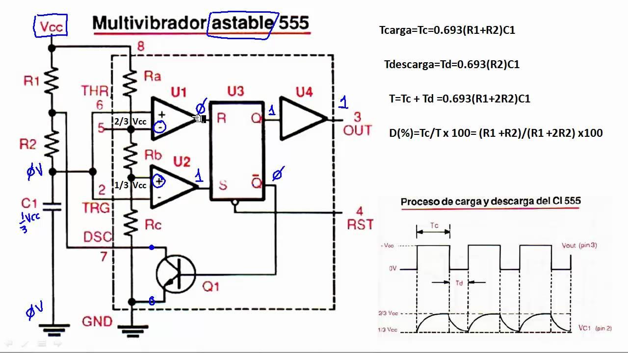 Circuito Monoestable 555 : Como astable hd funcionamiento interno capt parte