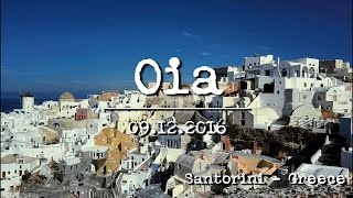 dji mavic pro flight over oia village santorini greece