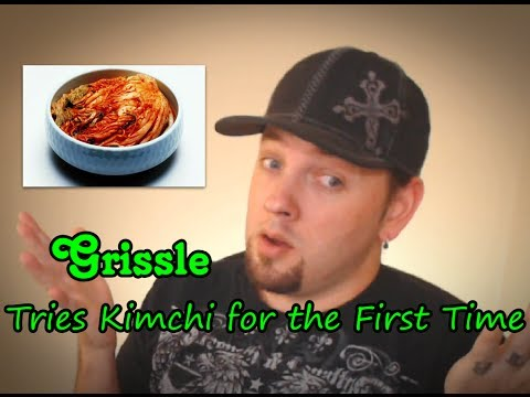 An Americans First Time Eating Kimchi