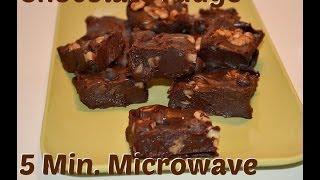 Chocolate Fudge 3-ingredient 5-minute No-bake Christmas Recipe Video By Chawlas-kitchen.com