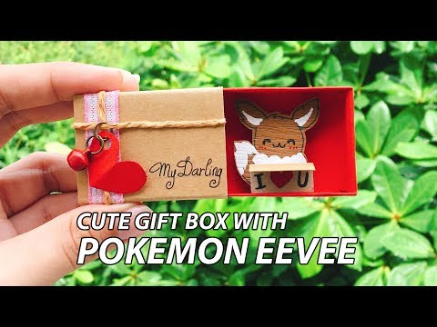 DIY   How To Make Cute Gift Box With Pokemon EEVEE   Tutorial   Pokemon Style #6