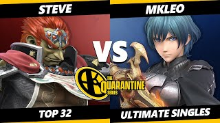 The Quarantine Series Top 32 - Steve (Ganondorf) Vs. MKLeo (Byleth) Smash Ultimate - SSBU
