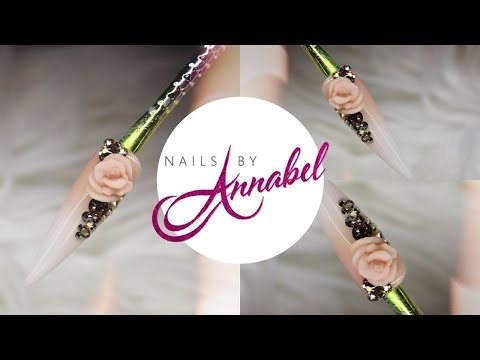 How To Create 3D Acrylic Rose🌹| Nails By Annabel