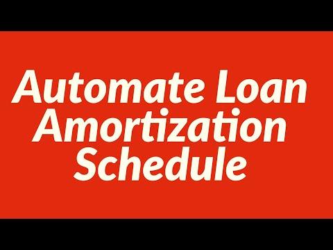 Automate Loan Amortization Schedule