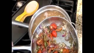 Grilled Squid Shrimp Portabello Mushroom With Pasta, Cajun Style