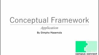 Conceptual Framework Application