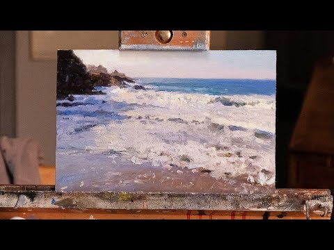 Painting a Beach in Oils