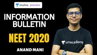 Information Bulletin | NEET 2020 | Important Updates | Dr. Anand Mani