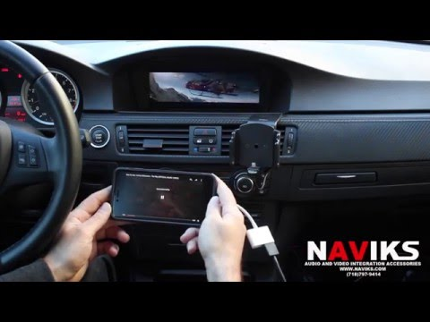 2012 BMW M3 E92 NAVIKS HDMI Video Interface Add: Rear & Front View Cameras, Smartphone Mirroring