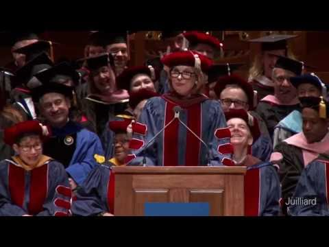 Juilliard Commencement 2016 -- Christine Baranski, Speaker