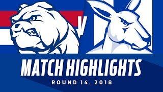 Western Bulldogs v North Melbourne Highlights   Round 14, 2018   AFL