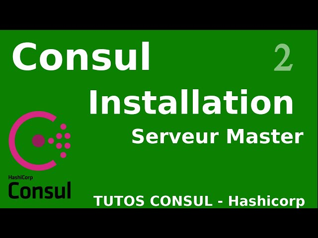 CONSUL - 2. INSTALLATION DU SERVEUR