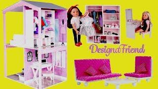 Dolls Dreamhouse Unboxing Assembly Full House Tour - DesignaFriend Dollhouse & Barbie Dollhouse