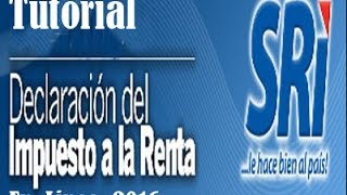 Declaración impuesto a la Renta SRI en Línea  2017 paso a paso thumbnail
