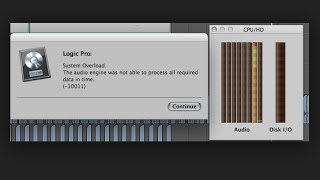Logic Pro -100111 System Overload Error and How to overcome it