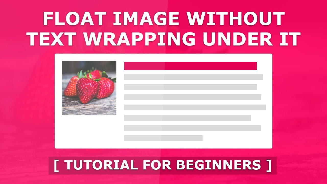 Float an Image Without Text Wrapping Using CSS Flex ...