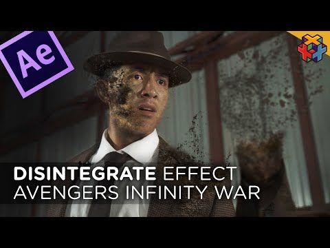 INFINITY WAR Disintegration in Adobe After Effects