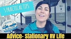 5 Pro Tips for Full Time Stationary RV Living ✨ 💰Frugal RV Living