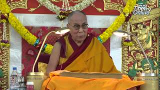 Tibetan: His Holiness the Dalai Lama's Speech on Dolgyal during Lamrim Teaching 2014