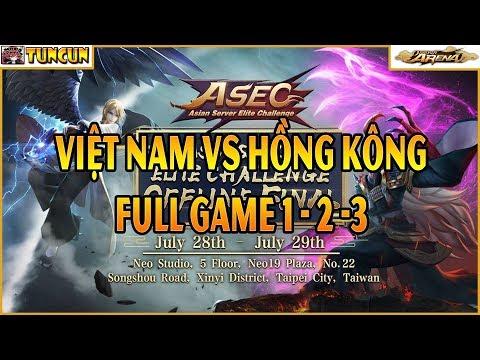 BÌNH LUẬN GIẢI ASEC onmyoji arena 2018 - Việt Nam vs Hồng Kông - FULL 3 GAME (Rất nhiều cảm xúc)