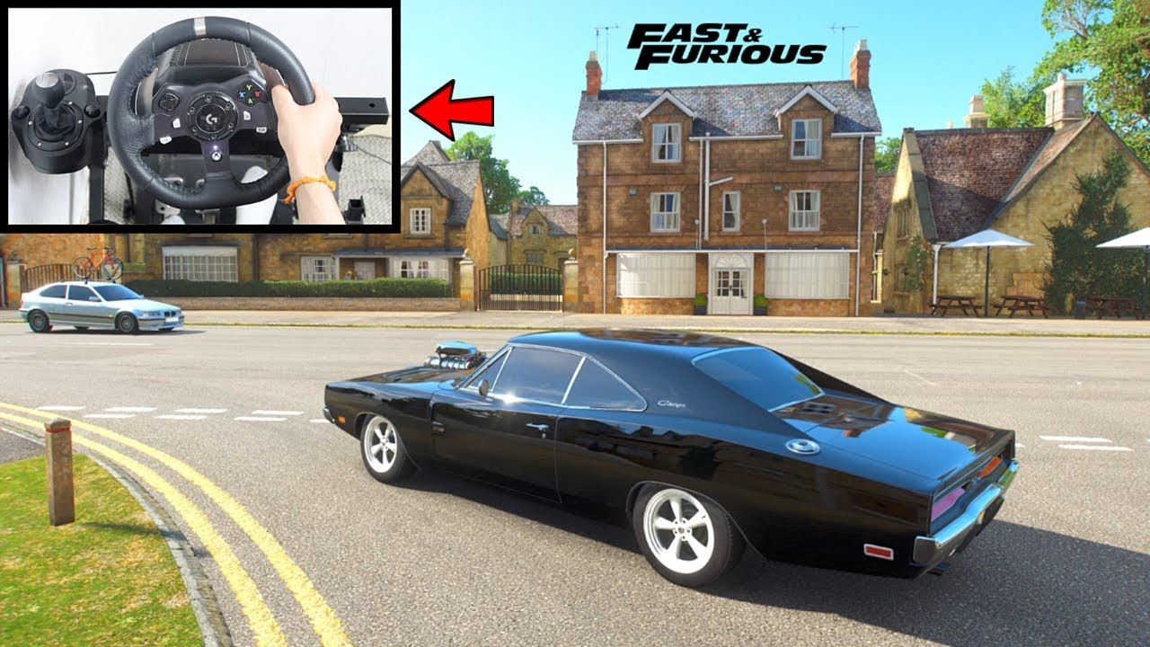 Forza Horizon 4 Drifting Dom's Dodge Charger R/T (Steering Wheel + Shifter) Fast & Furious
