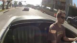 Cruising a 1958 Mercedes-Benz, 300SL Roadster, followed by 1955 Mercedes-Benz 300SL Gullwing.