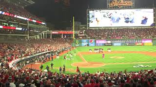 Cleveland Indians fans react to walk-off win in ALDS.