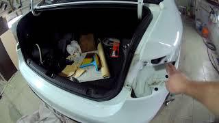 видео Как снять задний бампер на Киа Рио