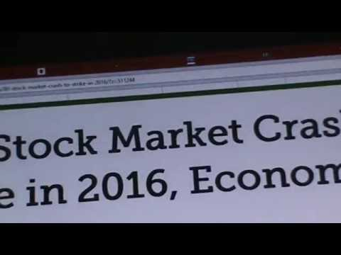 FINANCIAL REPORT: STOCK MARKET TO CRASH 2016 68 TRILLION POISED TO COLLAPSE