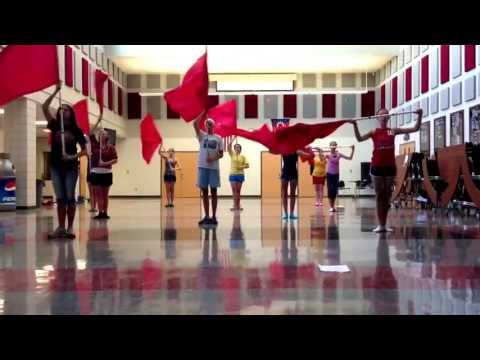 Norwayne High School Color Guard!! Fight Song 2!!