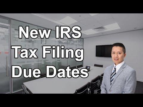 New IRS 2017 Tax Filing Due Dates