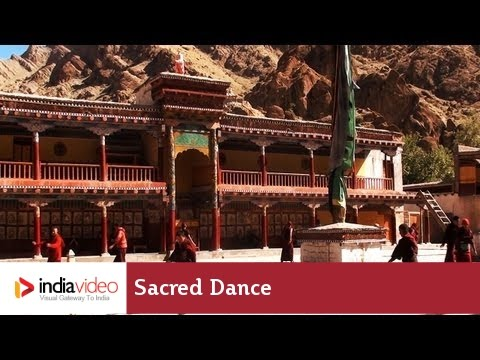 Sacred dance of Buddhist Monks