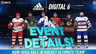 NHL 19 THE DIGITAL SIX HUT EVENT! JERSEY REVEAL + NEW SETS! DETAILS AND REVIEW! (DIGITAL 6)