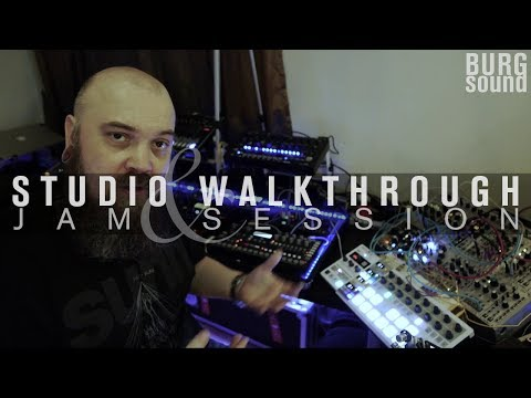 BURG SOUND - studio walkthrough and jam session - part 1