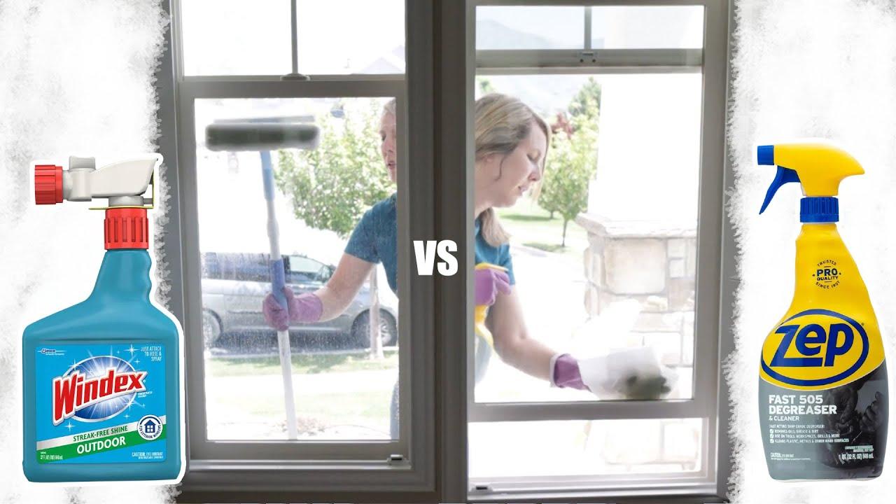 Download Best Way to Clean Windows? Zep vs Windex Outdoor Window Cleaner