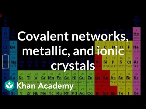 Covalent networks, metallic crystals, and ionic crystals | Chemistry | Khan Academy