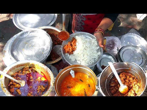 download South Indian Thali   Roadside Unlimited Meals in Hyderabad   Indian Street Food   #StreetFood