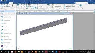 Gambar cover design of rcc beam using staad pro connect edition day 4