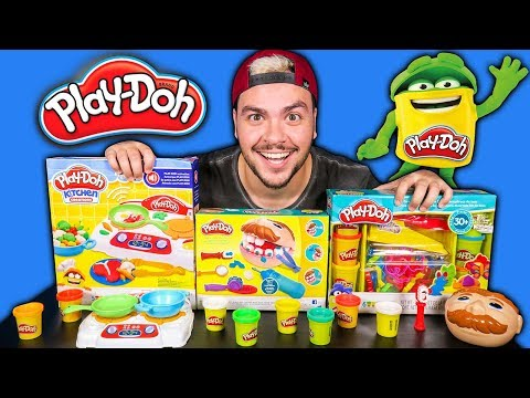 ABRINDO AS MASSINHAS PLAY DOH MAIS FAMOSAS DO MUNDO !!