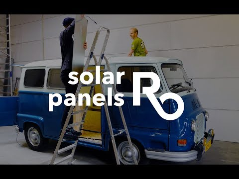 Rolling Office - solar panels installation on our van