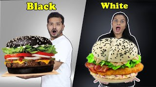 Black Vs White Food Eating Challenge | Food Challenge India | Hungry Birds
