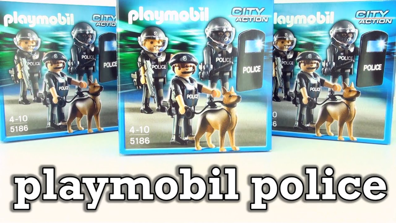 Wonderlijk Playmobil Police Special Forces Unit 5186 - 3 boxes with Police K9 LN-98