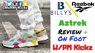 """Cover images Billy's Tokyo x Reebok Aztrek """"Nintendo 64"""" Edition Review + On Foot · Rbk N64 Shoes · W/ PM Kickz"""