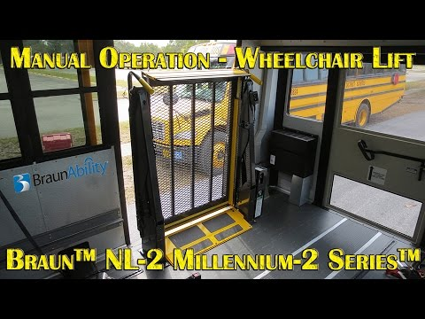 Braun Nl 2 Millennium 2 Series Wheelchair Lift Manual
