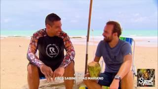 Roger visita o CT do Sport e bate um papo com Diego Souza