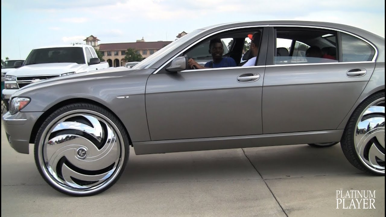 BMW 750Li on 30 INCH RIMS- DETROIT - YouTube