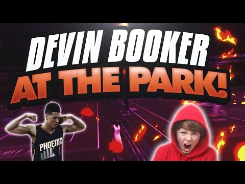 DEVIN BOOKER AT MYPARK!! SNAPPED A 24 GAME WIN STREAK?! ANGRY TRASH TALKER! NBA 2K17 MYPARK